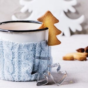 Shortbread Christmas cookies for cups